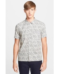 Camisa de manga corta estampada gris