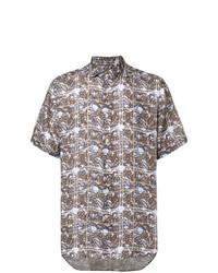 Camisa de manga corta estampada marrón
