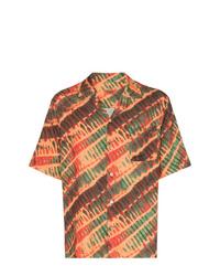Camisa de manga corta estampada naranja de Missoni