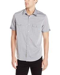 Camisa de manga corta gris de Calvin Klein
