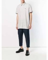Camisa de manga corta gris de Neil Barrett