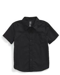 Camisa de manga corta negra
