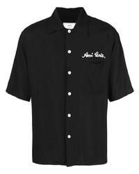 Camisa de manga corta negra de Ami Paris