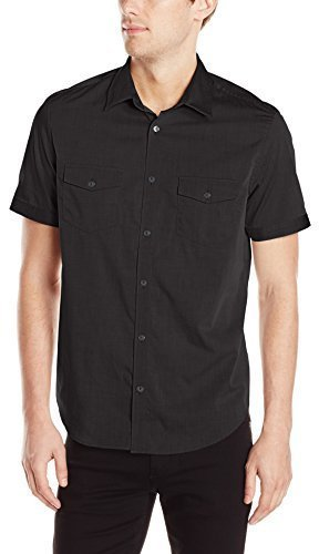 ... Camisa de manga corta negra de Calvin Klein ... 1f4de2c9766