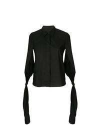 Camisa de manga corta negra de MM6 MAISON MARGIELA
