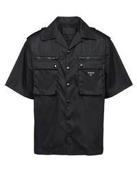 Camisa de manga corta negra de Prada