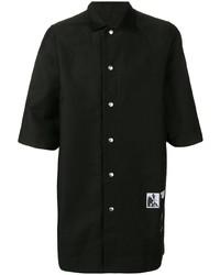 Camisa de manga corta negra de Rick Owens DRKSHDW