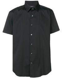 Camisa de manga corta negra de Theory