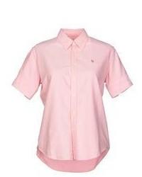 Camisa de manga corta rosada