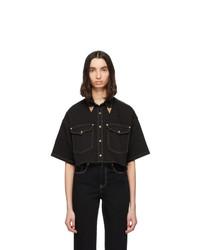 Camisa de manga corta vaquera negra