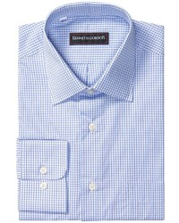 Camisa de manga larga a cuadros azul