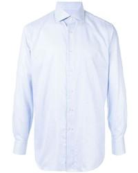 Camisa de manga larga a cuadros celeste de Brioni