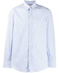 Camisa de manga larga a cuadros celeste de Brunello Cucinelli