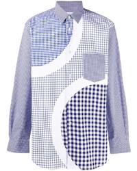 Camisa de manga larga a cuadros celeste de Comme Des Garcons SHIRT