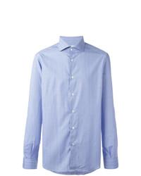 Camisa de manga larga a cuadros celeste de Fashion Clinic Timeless
