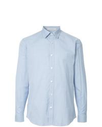 Camisa de manga larga a cuadros celeste de Gieves & Hawkes