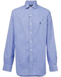 Camisa de manga larga a cuadros celeste de Polo Ralph Lauren