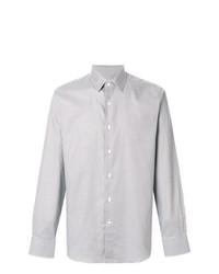 Camisa de manga larga a cuadros en beige de Canali