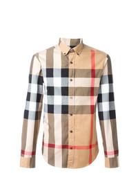 Camisa de manga larga a cuadros en multicolor