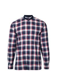 Camisa de manga larga a cuadros en multicolor de MAISON KITSUNÉ