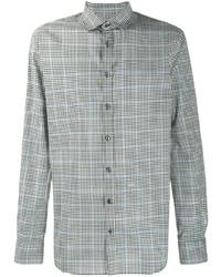 Camisa de manga larga a cuadros en negro y blanco de DSQUARED2