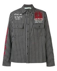 Camisa de manga larga a cuadros en negro y blanco de Off-White