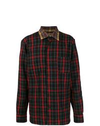 Camisa de manga larga a cuadros en rojo y negro de Marni