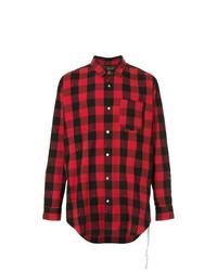 Camisa de manga larga a cuadros en rojo y negro de Mastermind World