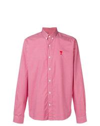 Camisa de manga larga a cuadros roja de AMI Alexandre Mattiussi