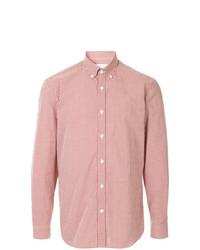 Camisa de manga larga a cuadros roja de Gieves & Hawkes