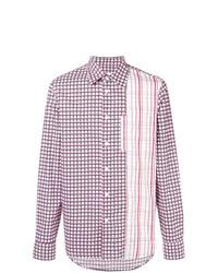 Camisa de manga larga a cuadros violeta claro de Marni