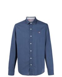 Camisa de Manga Larga a Lunares Azul Marino de Napapijri