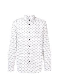 Camisa de manga larga a lunares blanca de Diesel