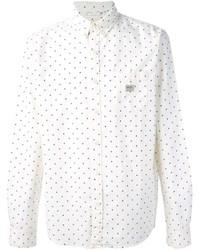 7ec67a54df Comprar una camisa de manga larga a lunares en blanco y azul marino ...