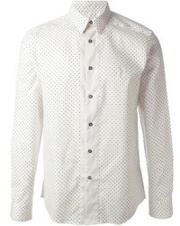 Camisa de manga larga a lunares en blanco y azul de Paul Smith