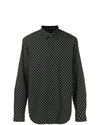 Camisa de manga larga a lunares en negro y blanco de Diesel