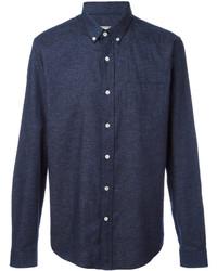 Camisa de manga larga azul marino de AMI Alexandre Mattiussi