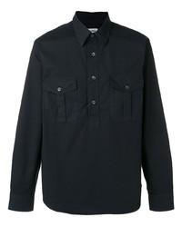 Camisa de manga larga azul marino de Aspesi