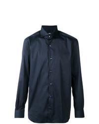 Camisa de manga larga azul marino de Barba