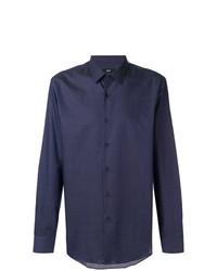 Camisa de manga larga azul marino de BOSS HUGO BOSS