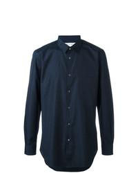Camisa de manga larga azul marino de Comme Des Garcons SHIRT