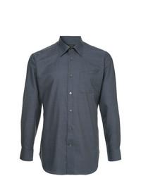 Camisa de manga larga azul marino de D'urban