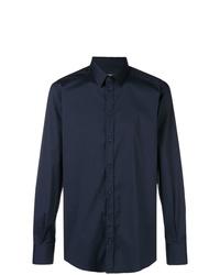 Camisa de manga larga azul marino de Dolce & Gabbana