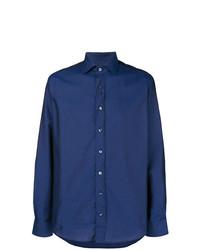 Camisa de manga larga azul marino de Etro