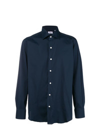 Camisa de manga larga azul marino de Finamore 1925 Napoli