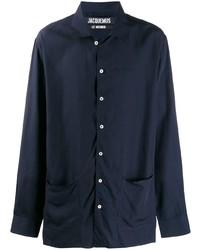 Camisa de manga larga azul marino de Jacquemus