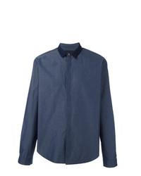 Camisa de manga larga azul marino de Juun.J