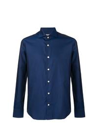 Camisa de manga larga azul marino de Kiton