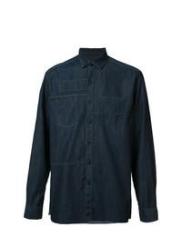 Camisa de manga larga azul marino de Lanvin