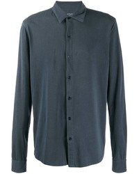 Camisa de manga larga azul marino de Majestic Filatures